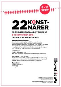 Konst åt alla i Boxholm 8-12 september 2015