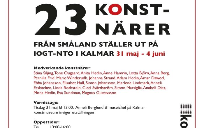 Vernissage i Kalmar med 23 konstnärer